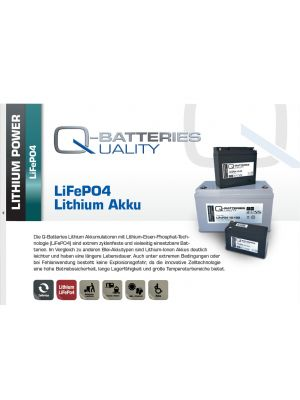 Q-Batteries Lithium Ionen AKKU 12,8 Volt LifePO4