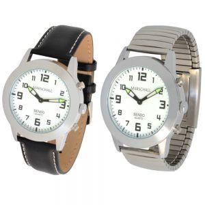 Sprechende Quarz Armbanduhr mit Touch-Funktion Senso Weck Alarm